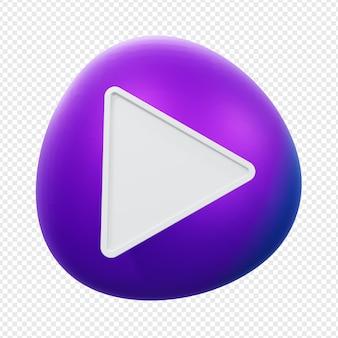 Кнопка воспроизведения 3d градиент иллюстрации изолирована