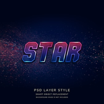 3d gradient space text style effect
