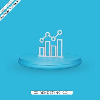 3d графическая диаграмма визуализации дизайна иконок