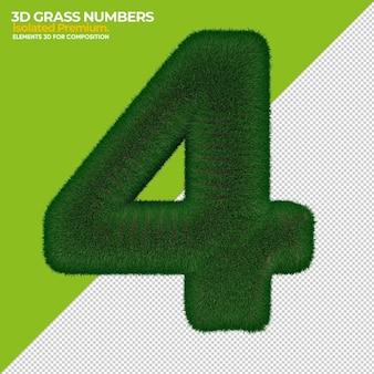 3차원, 잔디, 숫자, 고립된, 대 한 구성
