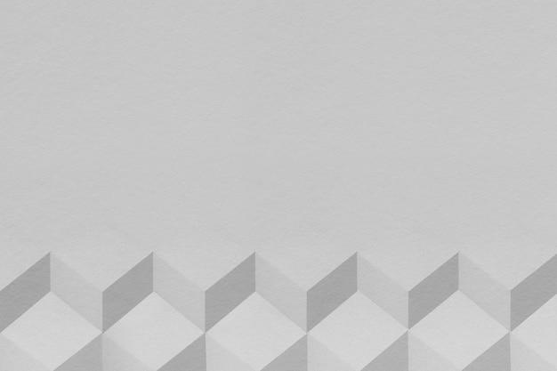 3d серый бумажный ремесло кубический узорчатый фон