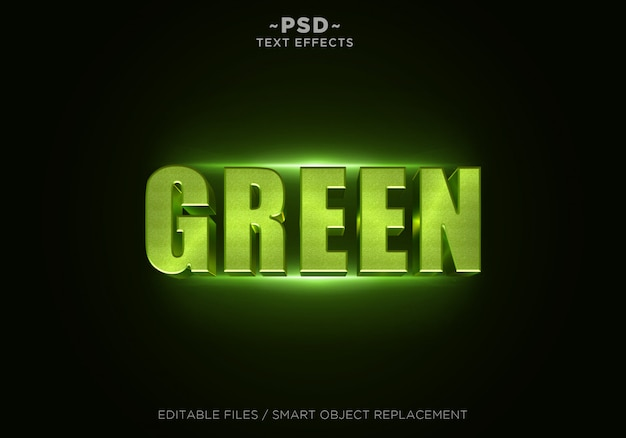 3d green glitter effect editable text