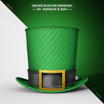 3d green hat for st patrick's day rendering