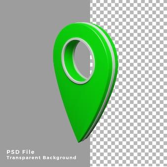 Значок 3d зеленый местоположение