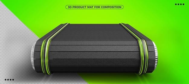 메이크업용 3d 녹색 제품 매트