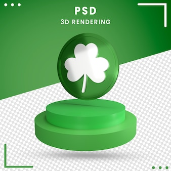 3d green rotated st. patrick's day isolated