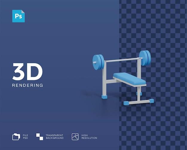 3d иллюстрации оборудования тренажерного зала