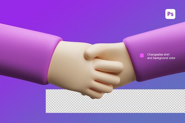 3d иллюстрации шаржа руки две руки для жеста рукопожатия