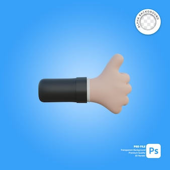 3d hand gesture like in front side