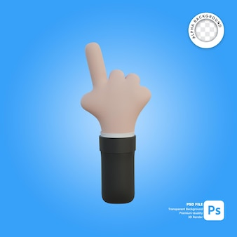 3d hand gesture one finger in front