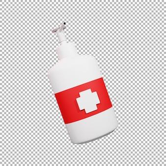 3d hand sanitizer bottle illustration