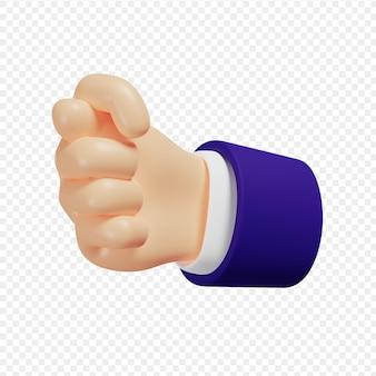 3d рука показывает жест фигу, изолированные на 3d иллюстрации