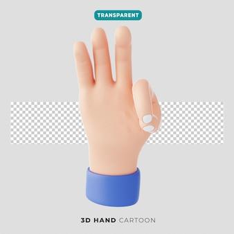3차원, 손, 세 손가락, 몸짓, 아이콘