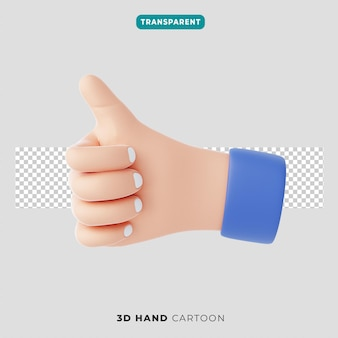 3d значок руки палец вверх жест