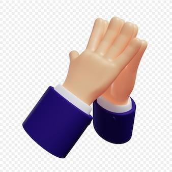 3d руки показывают жест руки на вершине изолированные 3d иллюстрации