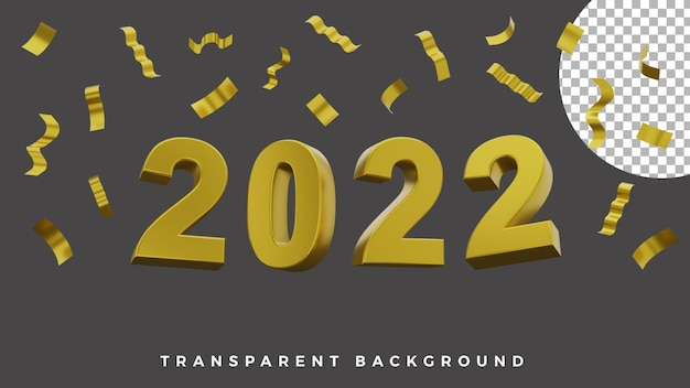 3d happy new year 2022 elegant luxury gold party paper concept high quality