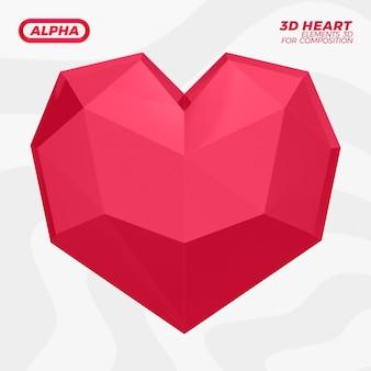 3d визуализация рендеринга сердца