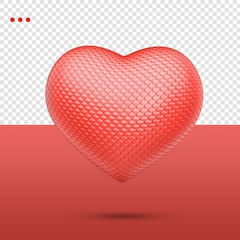 3d heart with bumpy texture
