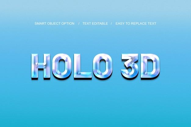 3d hologram text effect