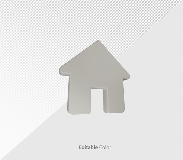 3d home psd template with editable color