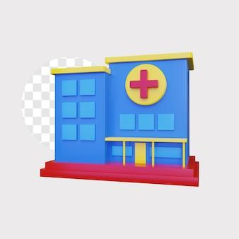 3d 병원 개념 illustratio