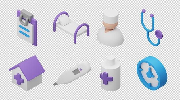 3d иконки больницы