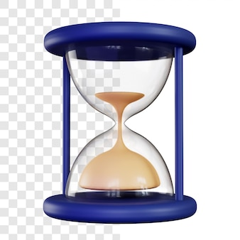 3d hourglass rendering isolated