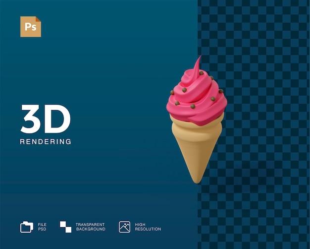 3dアイスクリームイラスト