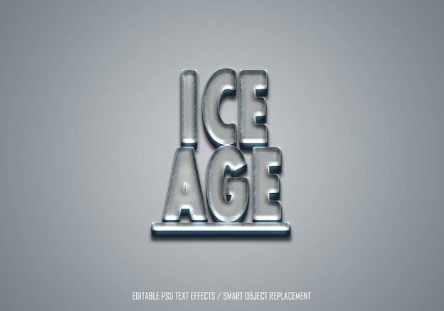 3d ice effect  text