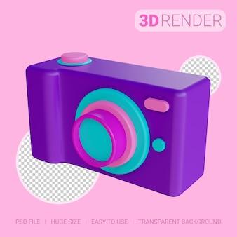 透明な背景を持つ3dアイコンカメラ