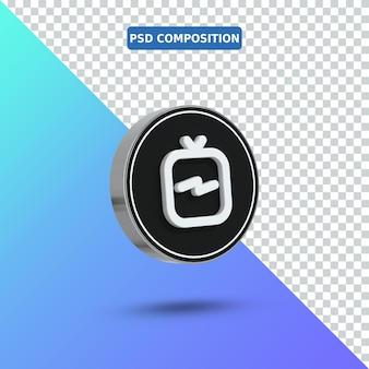 3 d アイコン ig テレビのロゴ