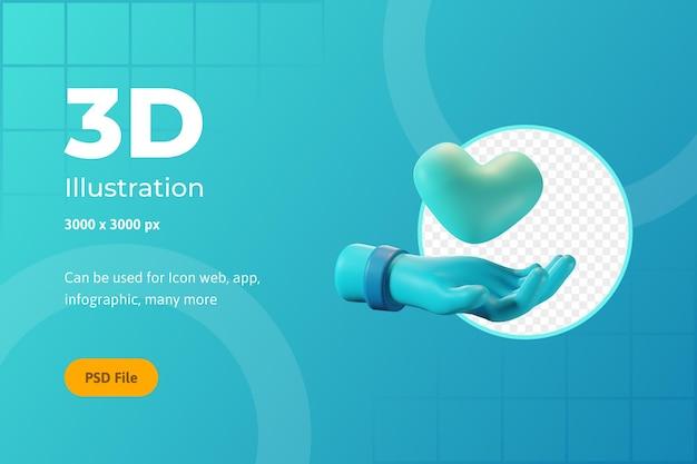 3dアイコンイラスト、ヘルスケア、健康を維持、ウェブ、アプリ、インフォグラフィック用