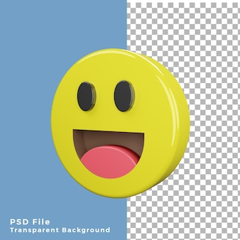 3d icon laughing emoticon high quality render