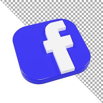 3d значок логотип facebook минималистичный изометрический