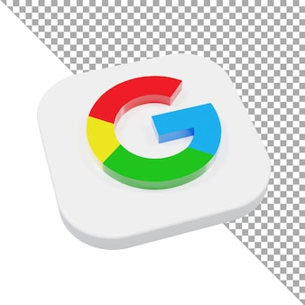 3d 아이콘 로고 구글 미니멀리스트 아이소메트릭