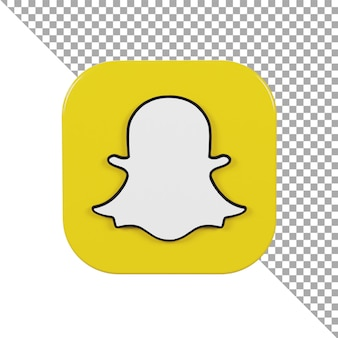 3d 아이콘 로고 snapchat 미니멀리스트