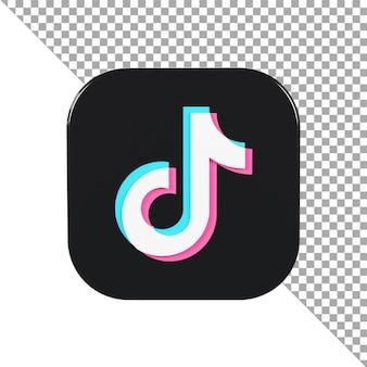 3d 아이콘 로고 tiktok 미니멀리스트