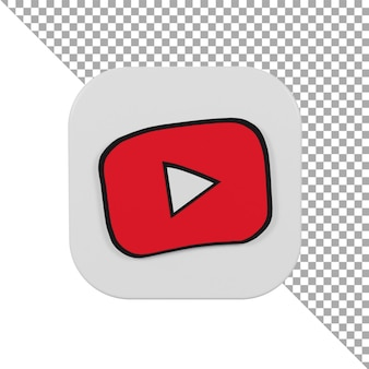 3d 아이콘 로고 youtube 어린이 미니멀리스트