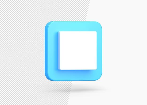 일시 중지 플레이어 기호의 3d 아이콘
