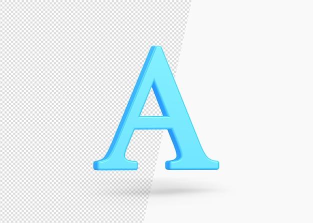 텍스트 기호 렌더링의 3d 아이콘