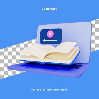 Онлайн-книга концепции рендеринга значков 3d