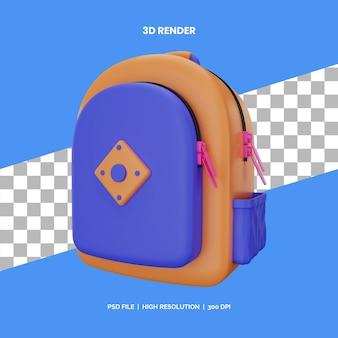 Школьная сумка 3d рендеринга иконок