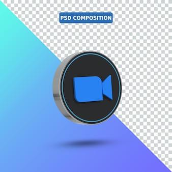 3d значок zoom logo