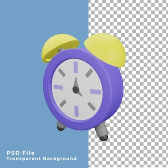 3d 그림 알람 시계 아이콘