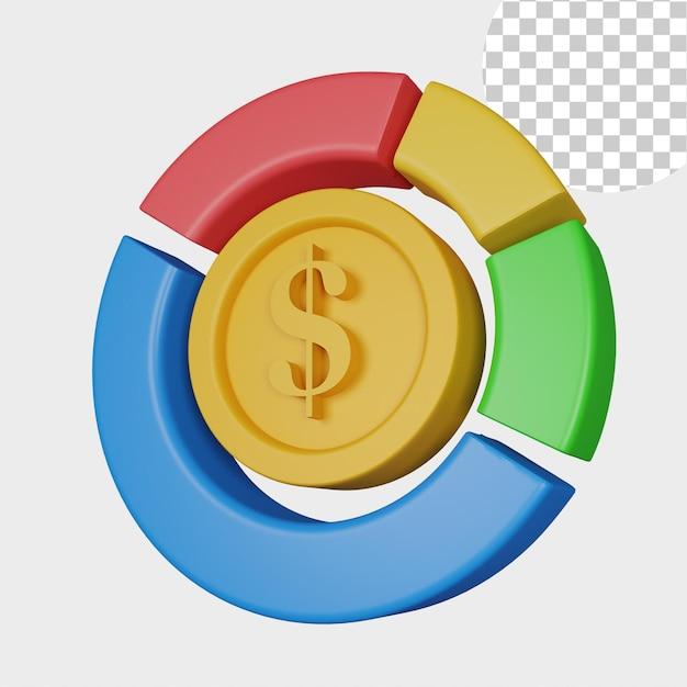 Значок аналитики 3d иллюстрации для веб-сайта
