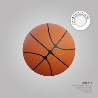 3d illustration of basket ball