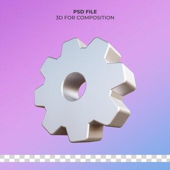 Значок болта 3d иллюстрации premium psd
