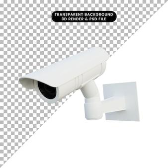 3d illustration of cctv camera