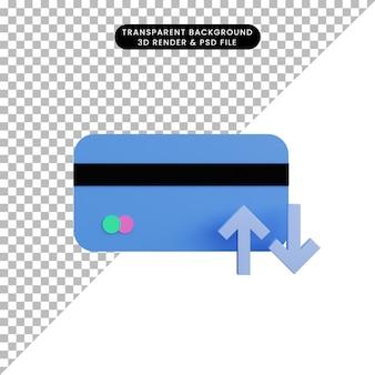 Кредитная карта и стрелка 3d иллюстрации