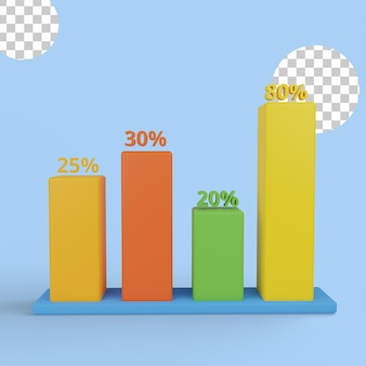 3d иллюстрации. концепция анализа данных
